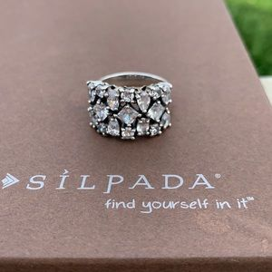 R2385 retired Silpada Cosmo sterling ring